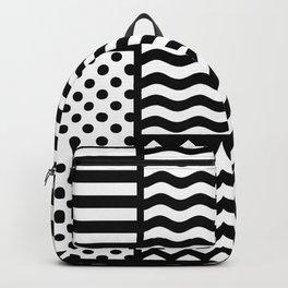 Mixed Patterns (Horizontal Stripes/Polka Dots/Wavy Stripes/Chevron/Checker) Backpack