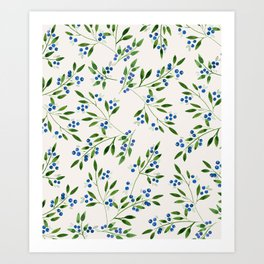Blueberry Fields Art Print