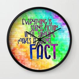 Science Fact (Warcross) Wall Clock