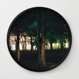 night time forest Wall Clock