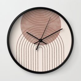 Abstract Modern Poster Arch  Wall Clock