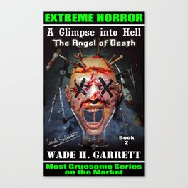 """""""The Angel of Death"""" book cover art with signature Canvas Print"""