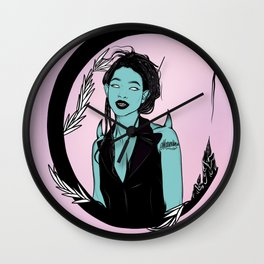 Willow's Moon Song Wall Clock