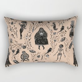 Creatures of the Night (orange) Rectangular Pillow