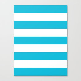 Bright Blue Stripes Canvas Print
