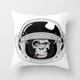 Space Ape Throw Pillow