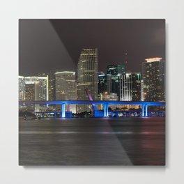 USA Photography - Downtown Miami Center Metal Print
