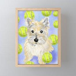 Cairn Terrier Fetch Framed Mini Art Print