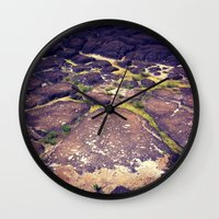 hawaii Wall Clocks featuring Hawaii by Slow Toast