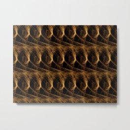 spun gold Metal Print