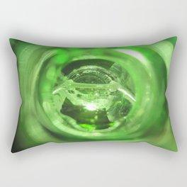 Green broken glass Rectangular Pillow