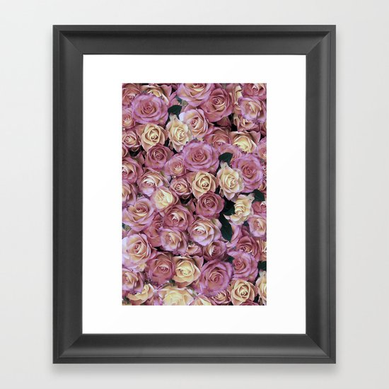 Bed of Roses Framed Art Print