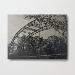 Rustic Steel Bridge Architectural Industrial A173 Metal Print