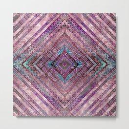 Tribal  Ethnic Boho Pattern Metal Print