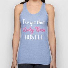Girl Boss Lady Boss Hustle Female Entreprenuer Unisex Tank Top