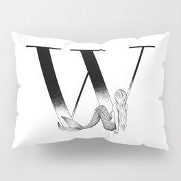 Mermaid Alphabet Series - W Pillow Sham