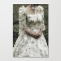 jane austen Canvas Prints featuring Jane Austen by Joana Kruse