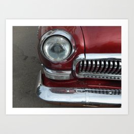 Retro cars antique parts and the elements Art Print