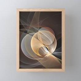Brown, Beige And Gray Abstract Fractals Art Framed Mini Art Print
