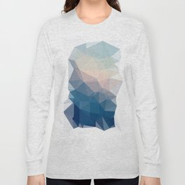 BE WITH ME - TRIANGLES ABSTRACT #PINK #BLUE #1 Long Sleeve T-shirt