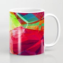 Mixed color Poinsettias 3 Abstract Polygons 1 Coffee Mug