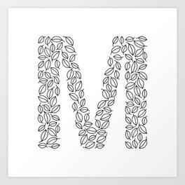 Floral Alphabet // The Letter M Art Print