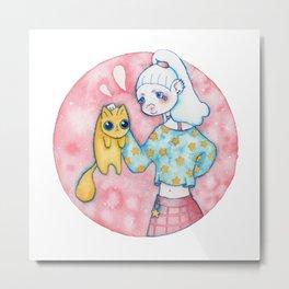 Umie & Mochi I Metal Print