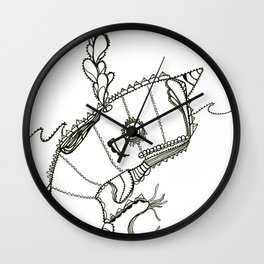 Funky Narwahl Wall Clock