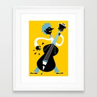 bass Framed Art Prints featuring Bass by Arthur Porto
