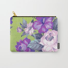 Saturated Vintage Floral Carry-All Pouch
