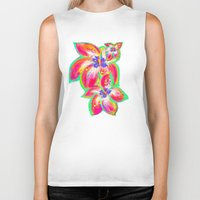 hibiscus Biker Tanks featuring Hibiscus by Teri Newberry
