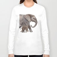 elephants Long Sleeve T-shirts featuring Elephants by Goosi