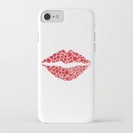 Red Lips Art - Big Kiss - Sharon Cummings iPhone Case