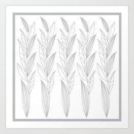 Eternity in Silver Leaf II Art Print
