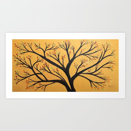 Tree branches Art Print