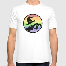 snowboarding 2 White MEDIUM Mens Fitted Tee