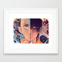 the last airbender Framed Art Prints featuring Avatar: The Last Airbender by hara