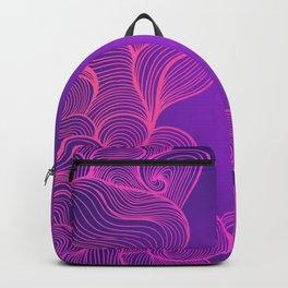 Heat Wave II Abstract Waves Backpack