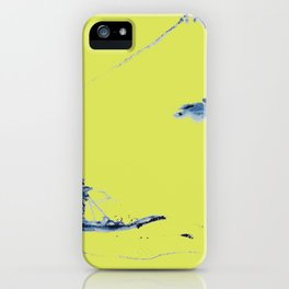Japanese Mountains remix in lime green iPhone Case