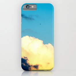 Swallow Bird Over The Stormy Clouds. Summer Weather iPhone Case