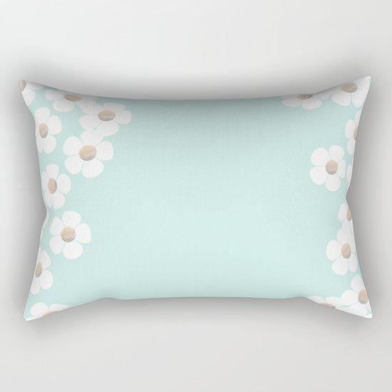 DAISY RAIN MINT Rectangular Pillow