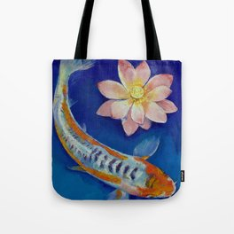 Koi Fish and Lotus Tote Bag