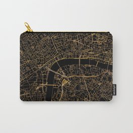 Black and gold London map Carry-All Pouch