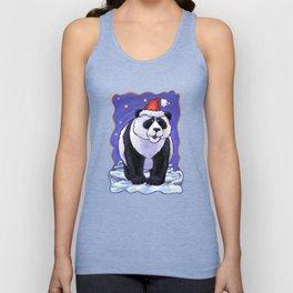 Panda Bear Christmas Unisex Tank Top