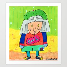 Cool Girl Art Print