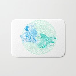 Mandala Bed of Fishy Lovers Bath Mat