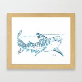 Tiger Shark II Framed Art Print