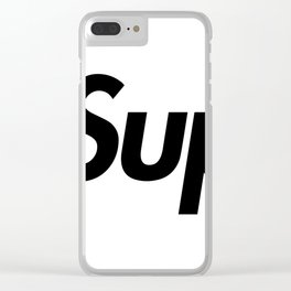 Supreme Black Letters Clear iPhone Case