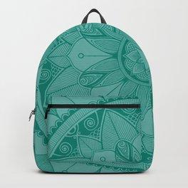Teal Mandala 4 Backpack