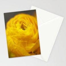 Golden Ranunculus Flowers Stationery Cards